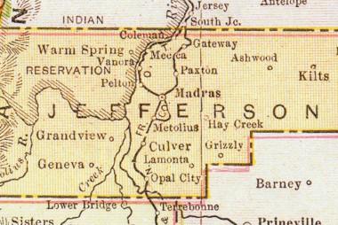 Jefferson County Map, 1916